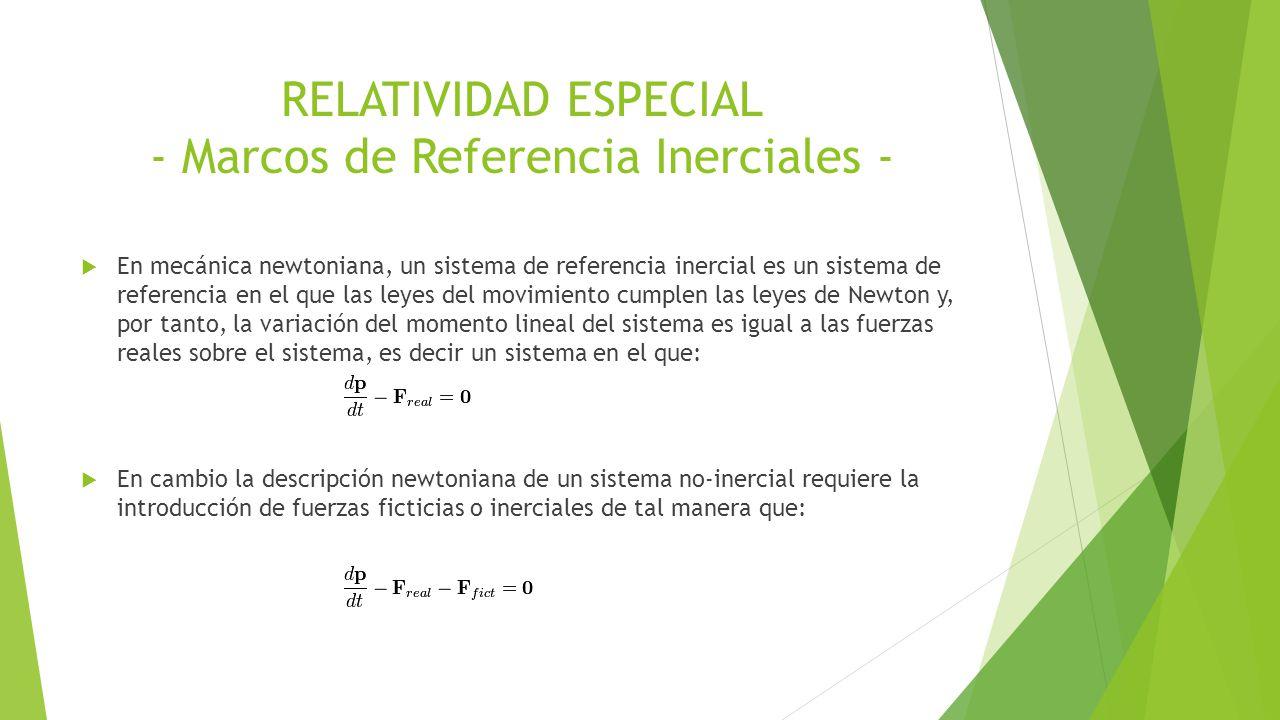 Fundamentos de Física Moderna RELATIVIDAD ESPECIAL UN Fabián Andrés ...