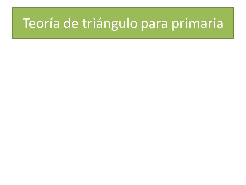 Teoría de triángulo para primaria
