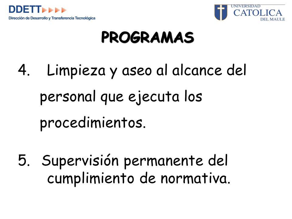 5.Supervisión permanente del cumplimiento de normativa.