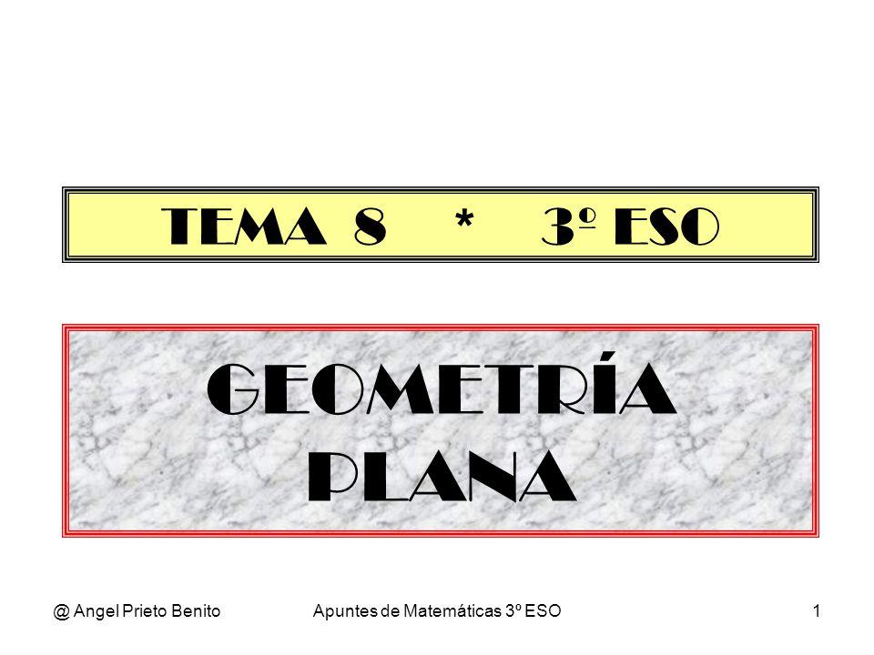 @ Angel Prieto BenitoApuntes de Matemáticas 3º ESO1 GEOMETRÍA PLANA TEMA 8 * 3º ESO