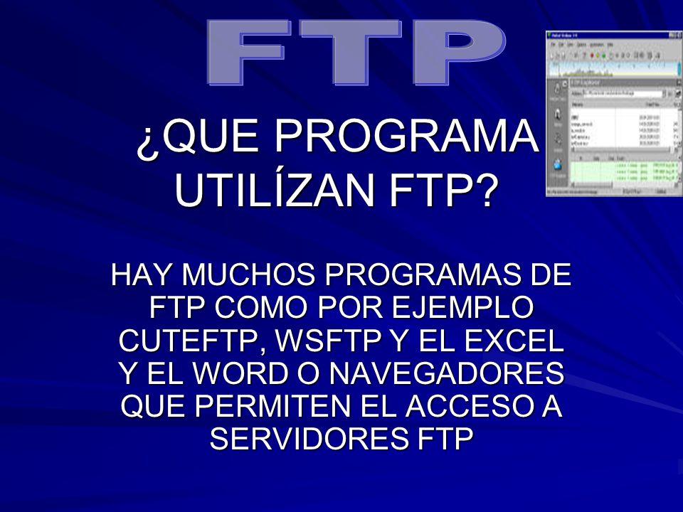 """La presentaci�n """"SIGNIFICADO DE LAS SIGLAS FTP FTP ES EL ACRONIMO ..."""