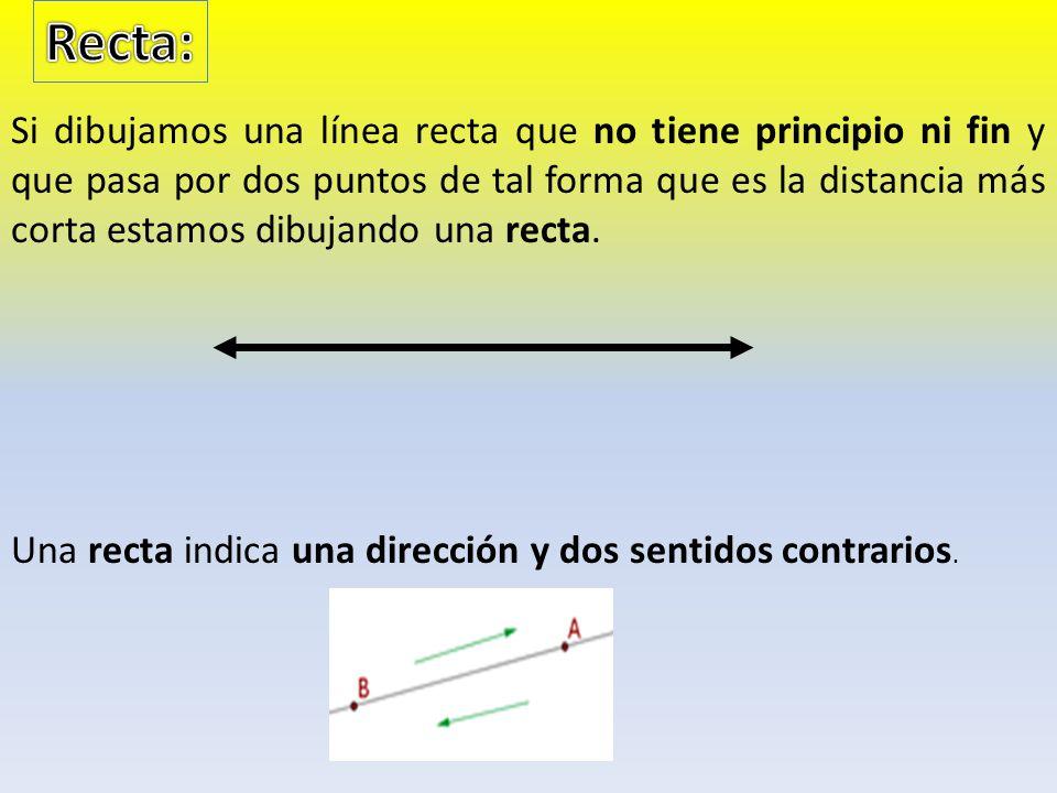 Dos rectas que no se cortan en ningún punto se llaman rectas paralelas.