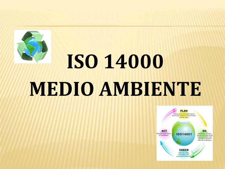 ISO 14000 MEDIO AMBIENTE