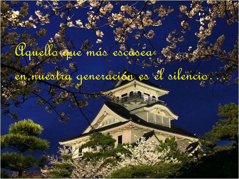 Aquello que más escasea en nuestra generación es el silencio…