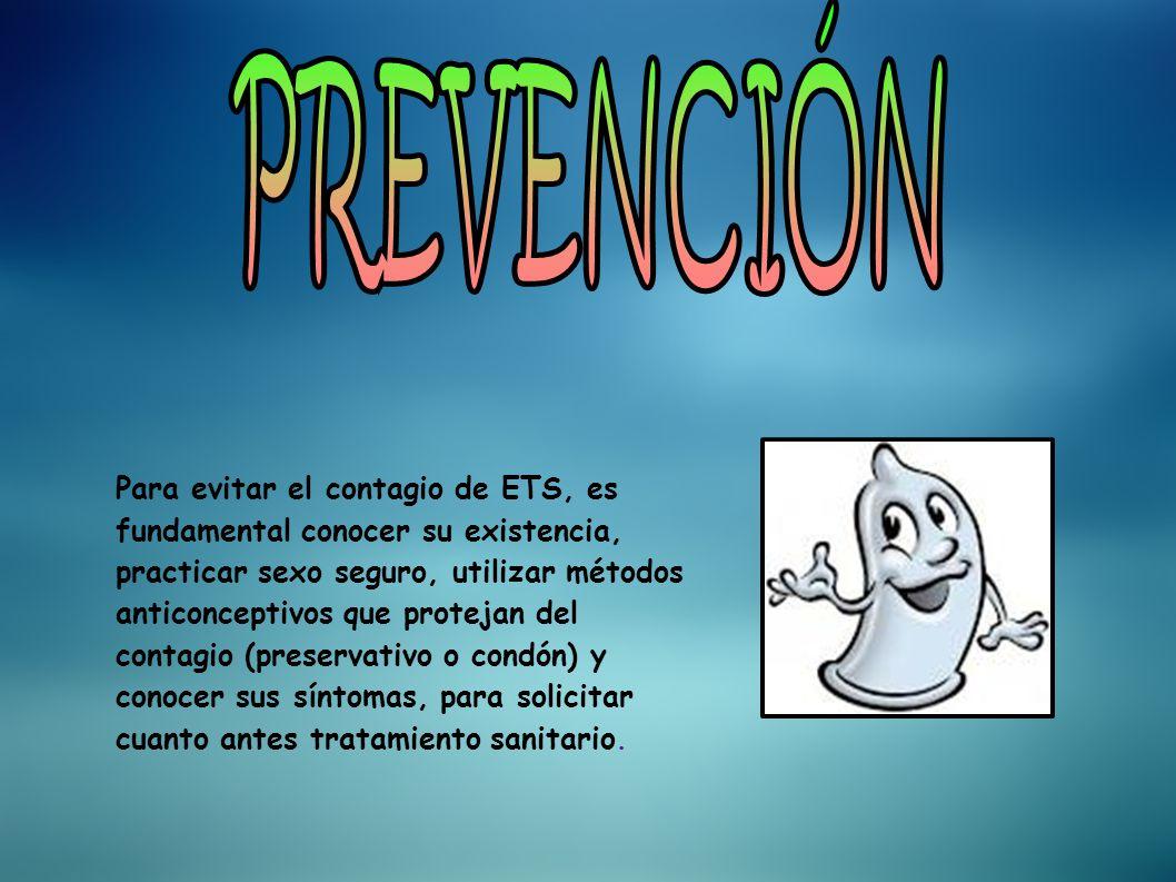 Las ETS se pueden clasificar de acuerdo a su agente etiologico (el causante de la enfermedad): - Producidas por virus: # Hepatitis B # Herpes genital # Condiloma Viral (virus del papiloma humano) # VIH/SIDA -Producidas por Bacterias: # Sífilis # Gonorrea # Chlamydia trachomatis (infección con Chlamydia) # Vaginosis bacteriana # Linfogranuloma venereo o granuloma venéreo - Producidas por endoparasitos: # Trichomonas vaginalis (tricomoniasis urogenital) -Producidas por ectoparasitos: # Escabiosis o sarna # Piojo del pubis o ladillas -Producidas por hongos: # Candidiasis