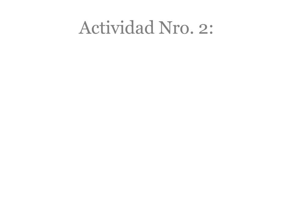 Actividad Nro. 2: