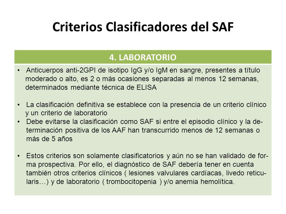 Criterios Clasificadores del SAF 4.