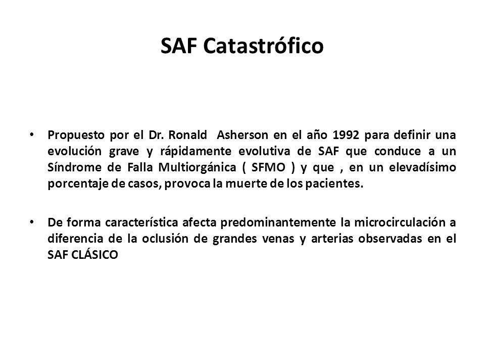 SAF Catastrófico Propuesto por el Dr.