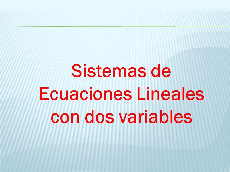Sistemas de Ecuaciones Lineales con dos variables