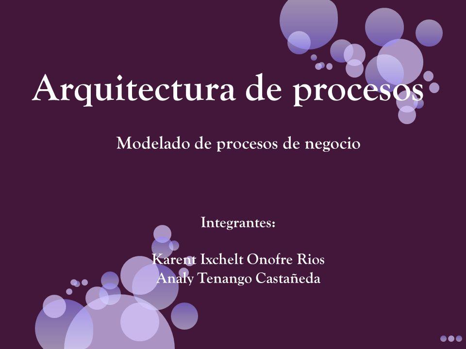 La arquitectura de procesos en general identifica que procesos definen una estructura funcional y se anticipa al proceso mismo.