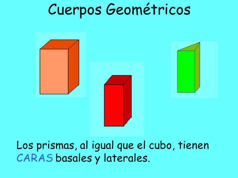 Cuerpos Geométricos Parecen cajas de leche, una goma o edificios, ¿verdad.