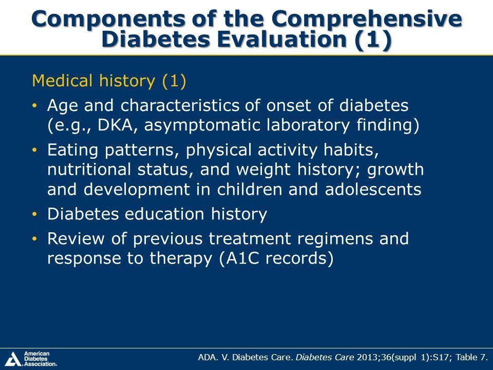 characteristics of diabetes