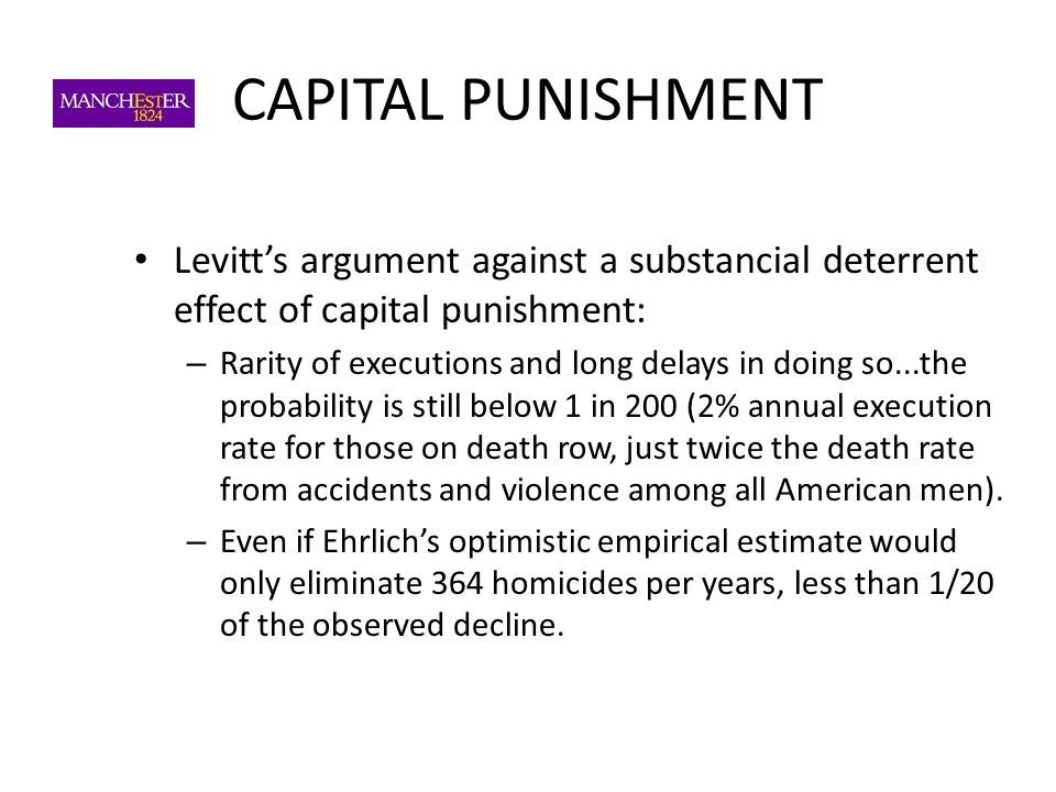 capital punishment argument How can the answer be improved.
