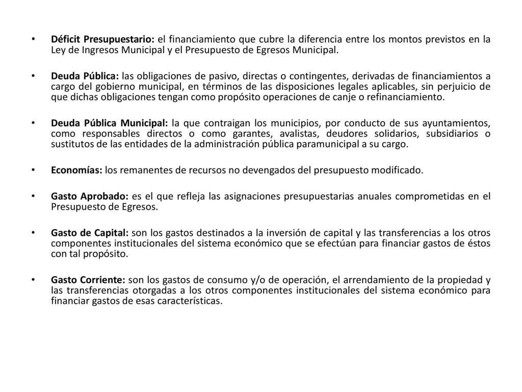 Autorización de la propuesta de Ley de Ingresos 29 de Octubre de ...