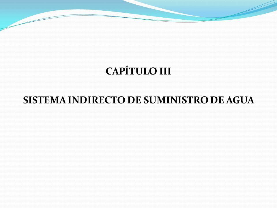 CAPÍTULO III SISTEMA INDIRECTO DE SUMINISTRO DE AGUA