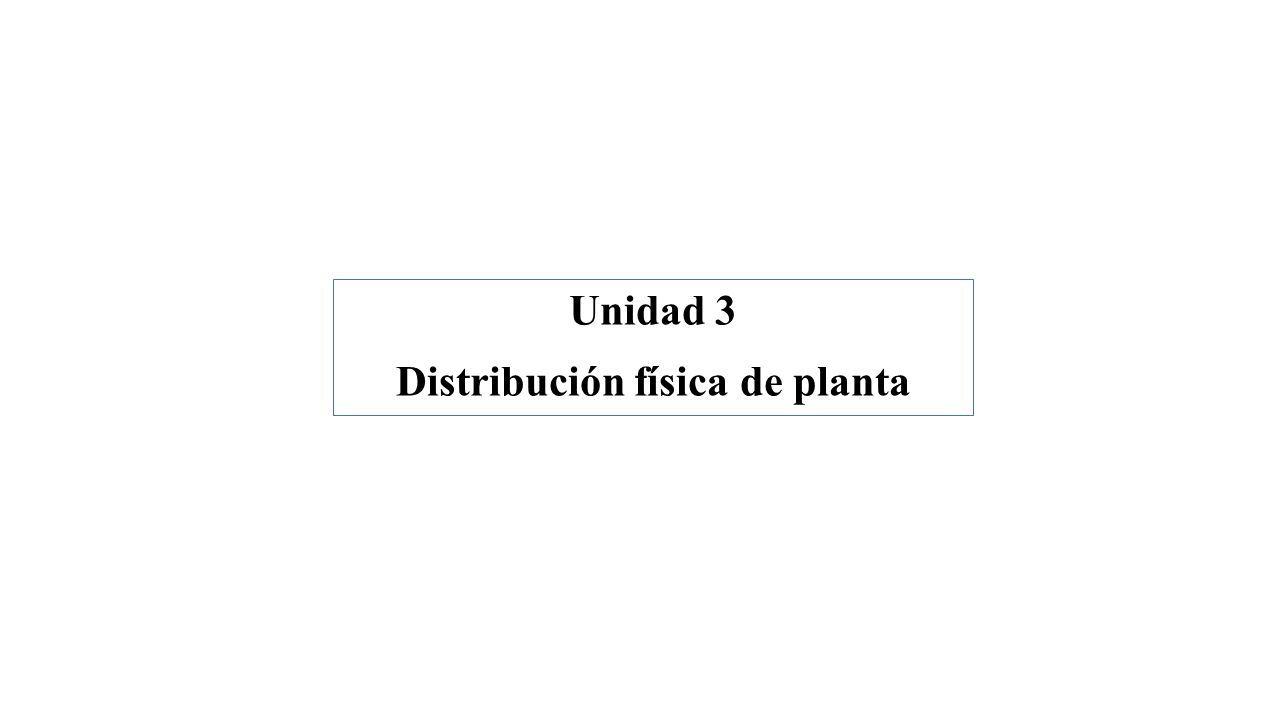 Unidad 3 Distribución física de planta