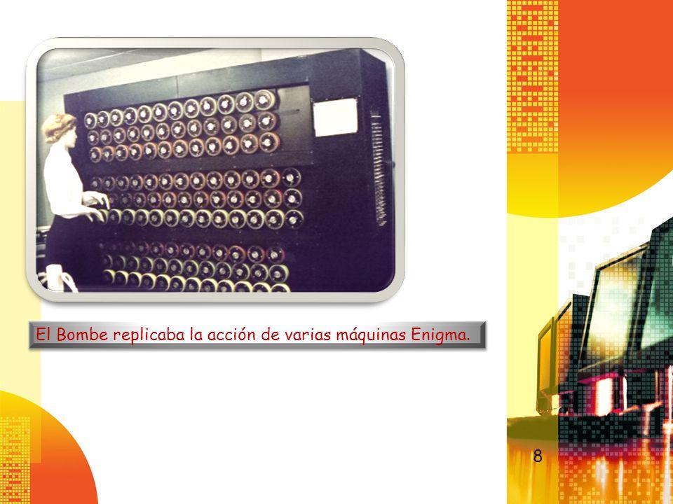 El Bombe replicaba la acción de varias máquinas Enigma. 8