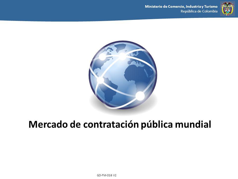 Ministerio de Comercio, Industria y Turismo República de Colombia GD-FM-016 V2 Mercado de contratación pública mundial