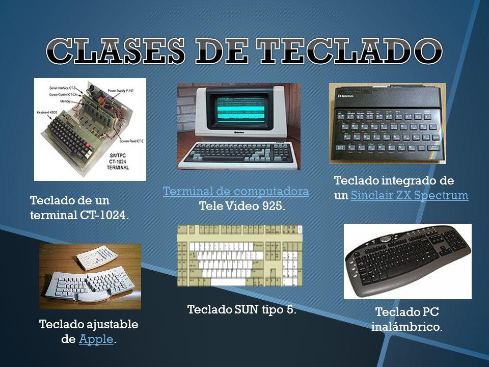 Teclado de un terminal CT-1024. Teclado integrado de un Sinclair ZX SpectrumSinclair ZX Spectrum Terminal de computadora Tele Video 925. Teclado ajust