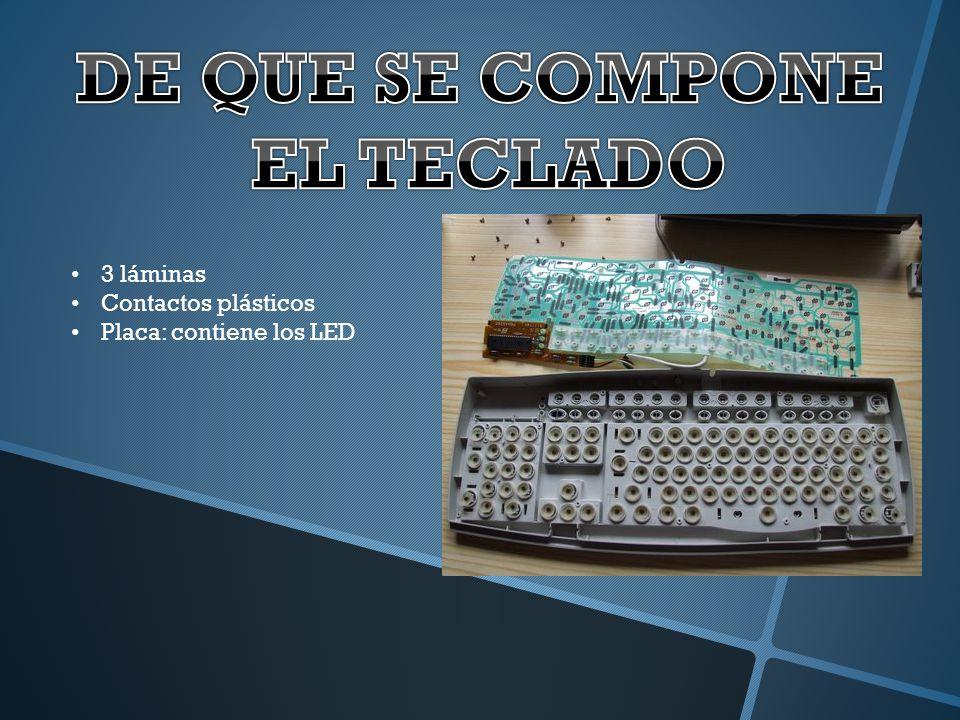 Dentro del procesador del teclado se encuentra la matriz de teclas.