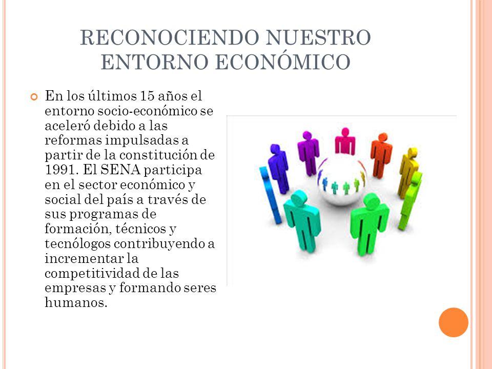 RECONOCIENDO NUESTRO ENTORNO ECONÓMICO En los últimos 15 años el entorno socio-económico se aceleró debido a las reformas impulsadas a partir de la co