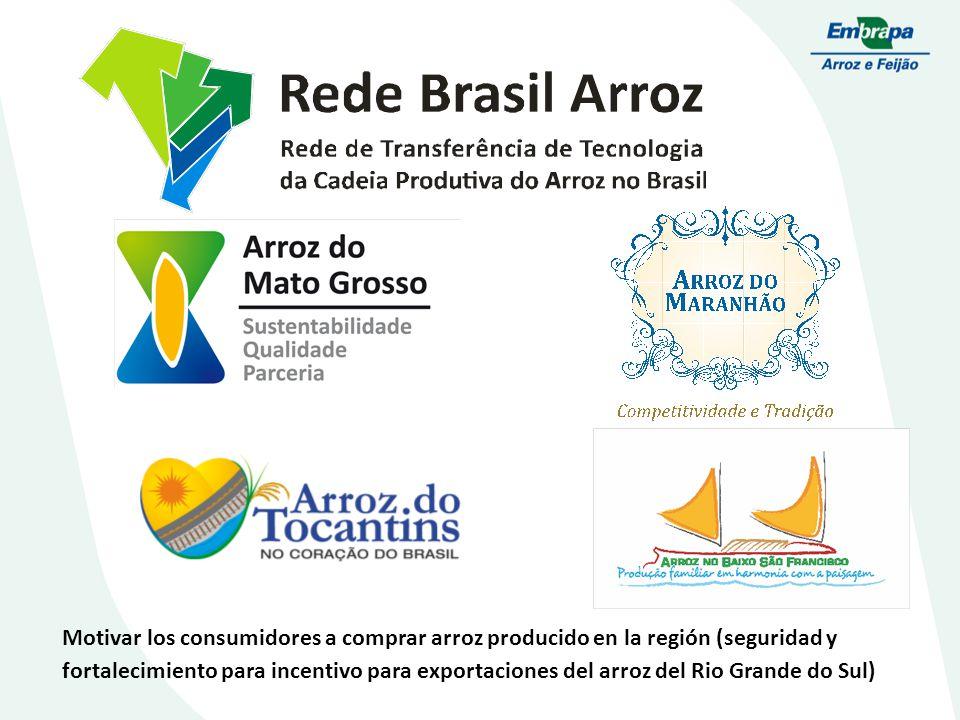 Motivar los consumidores a comprar arroz producido en la región (seguridad y fortalecimiento para incentivo para exportaciones del arroz del Rio Grande do Sul)