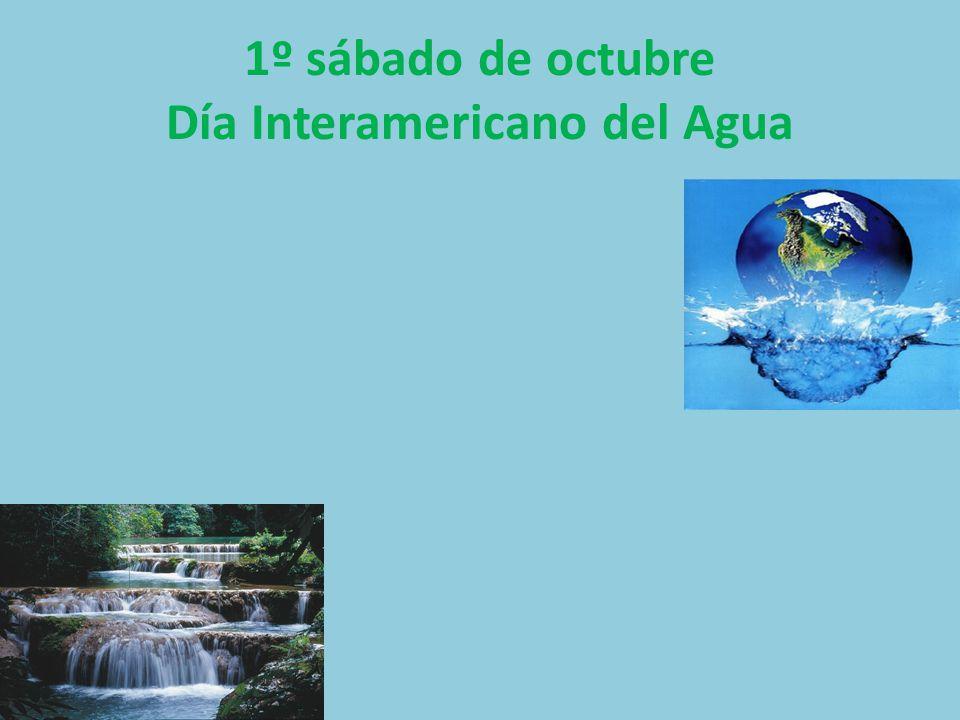 1º sábado de octubre Día Interamericano del Agua
