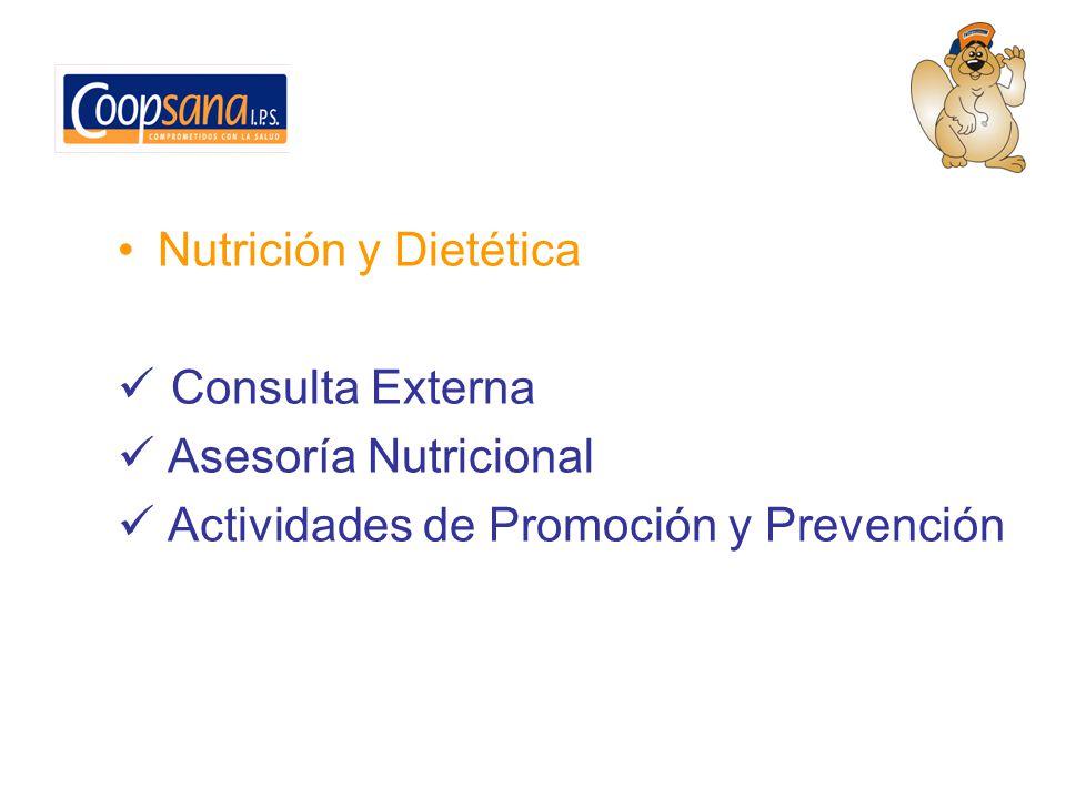 Nutrición y Dietética Consulta Externa Asesoría Nutricional Actividades de Promoción y Prevención