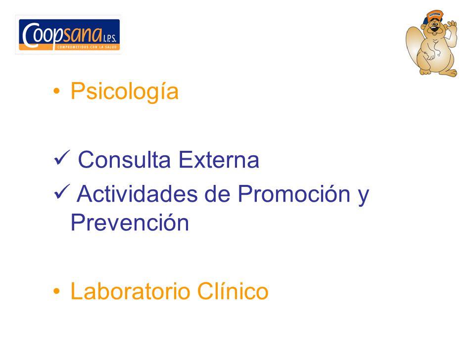 Psicología Consulta Externa Actividades de Promoción y Prevención Laboratorio Clínico