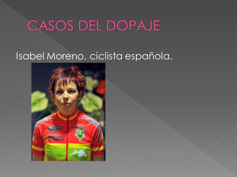 Isabel Moreno, ciclista española.