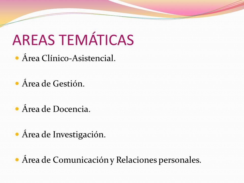 AREAS TEMÁTICAS Área Clínico-Asistencial.Área de Gestión.
