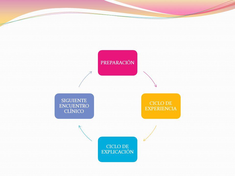 PREPARACIÓN CICLO DE EXPERIENCIA CICLO DE EXPLICACIÓN SIGUIENTE ENCUENTRO CLÍNICO