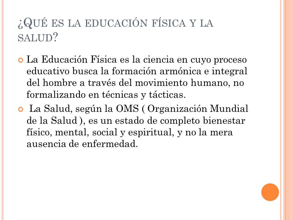 Educacion Fisica y Salud q u es la Educaci n f Sica y