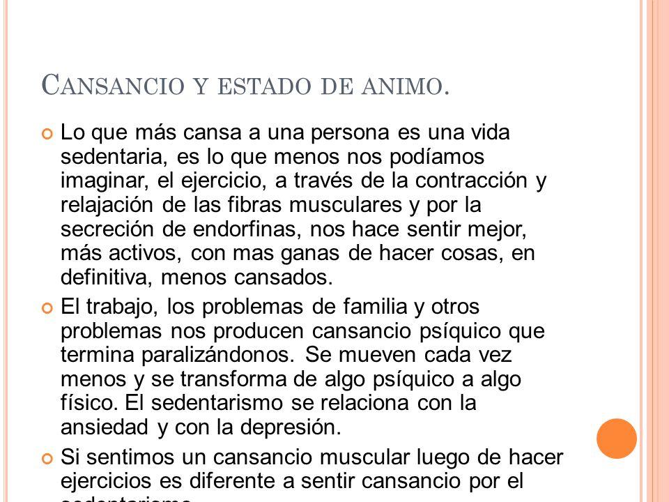 C ANSANCIO Y ESTADO DE ANIMO.