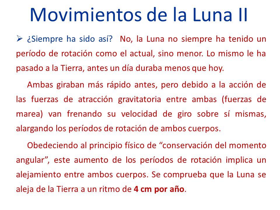 Movimientos de la Luna II ¿Siempre ha sido así.