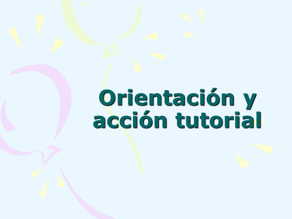 Orientación y acción tutorial