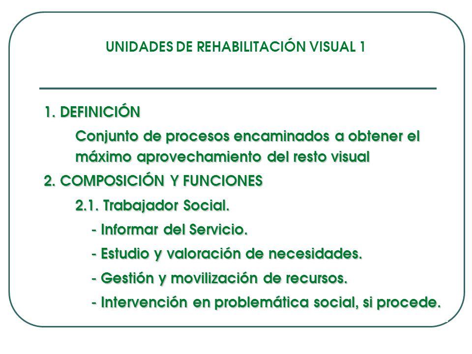 UNIDADES DE REHABILITACIÓN VISUAL 1 1.