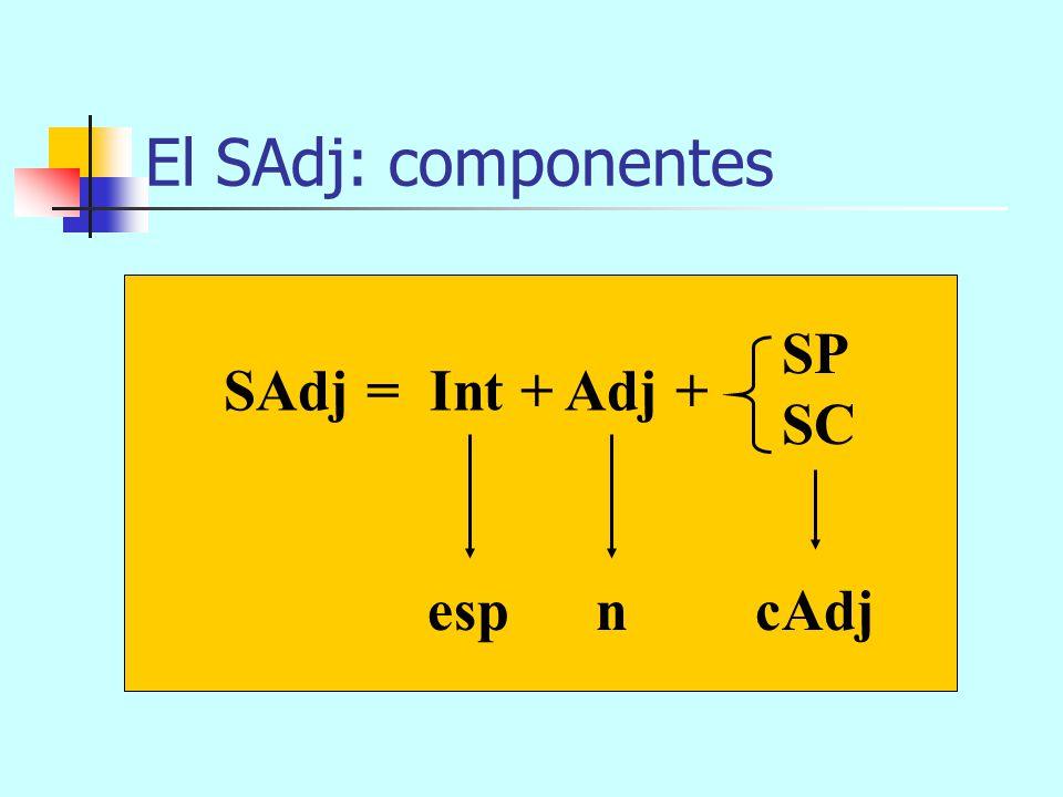 El SN: esquema arbóreo SN (n) (cN) Det N (esp) eseordenador SC que me regaló mi madre