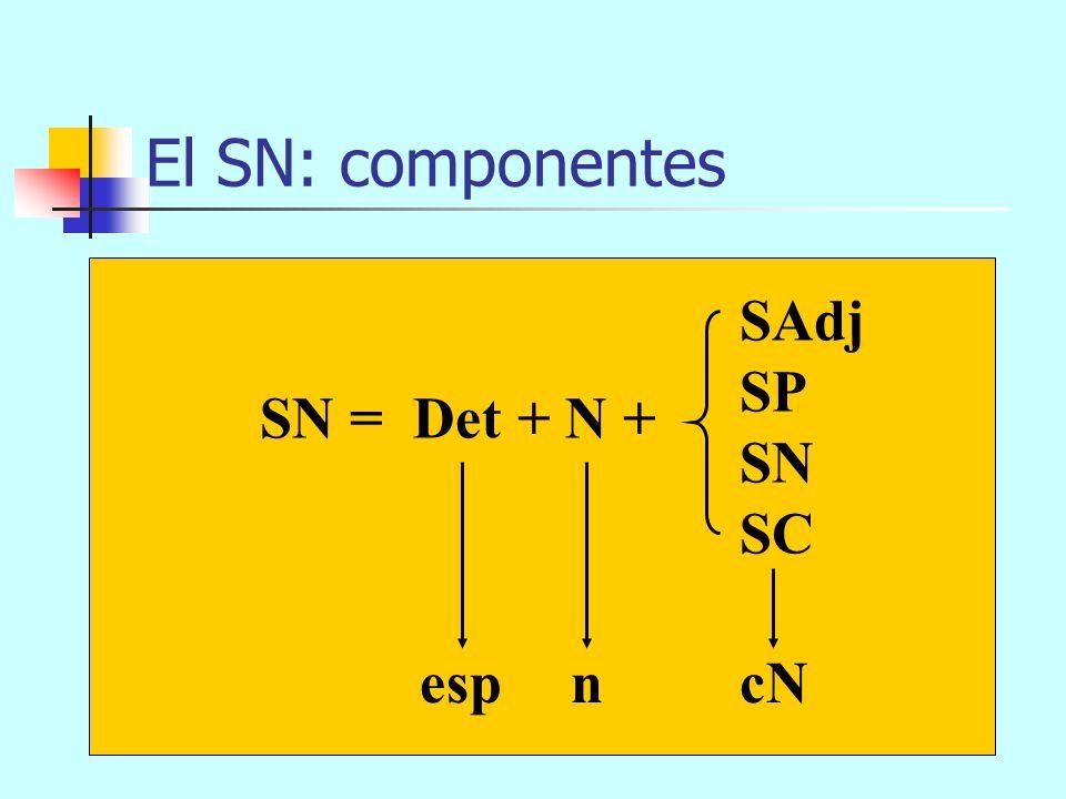 La oración es un sintagma O SN (Suj) SV (Pred) El viento del Sur con fuerza V (n) SP (CC) sopla