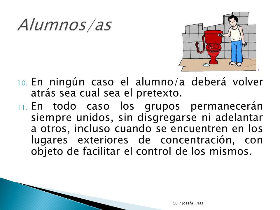 7. Los alumnos/as deberán realizar estos movimientos en silencio, con sentido del orden y ayuda mutua, para evitar atropellos y lesiones, ayudando a l