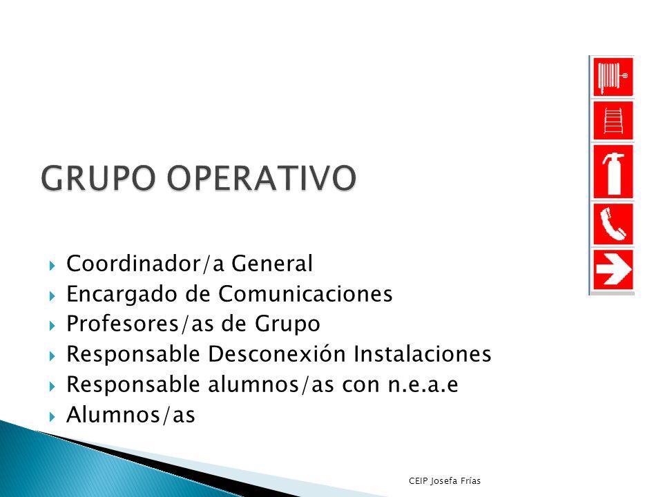 Protocolo de actuación ante Simulacro de Incendios y Confinamiento CEIP Josefa Frías