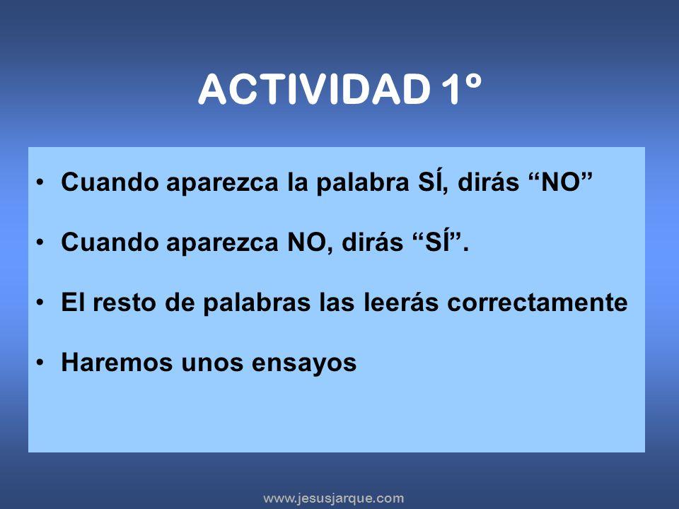 www.jesusjarque.com INTRUCCIONES Las actividades Hacer – No hacer sirven para estimular la función ejecutiva de inhibición y flexibilidad. Son recomen