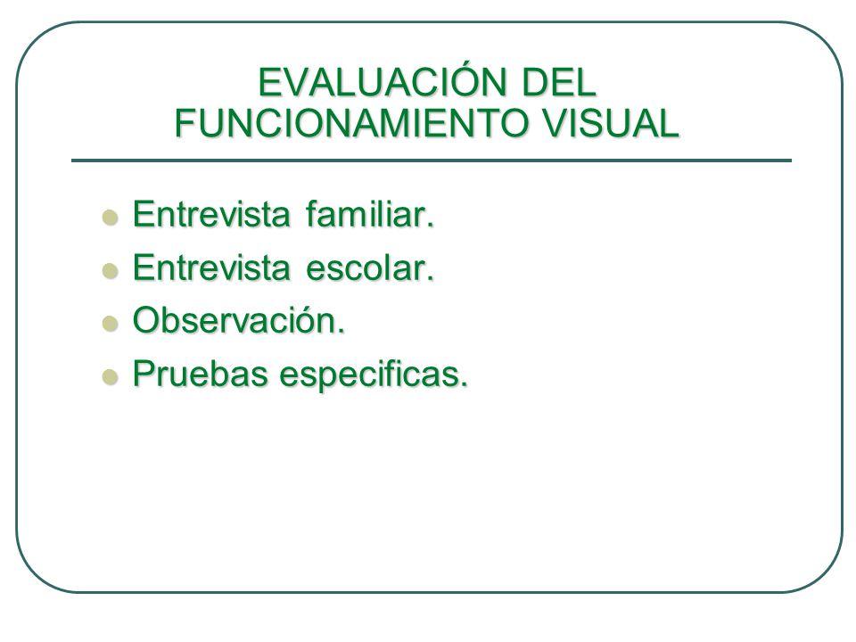 PRUEBAS ESPECIFICAS Escala de eficiencia visual, de N.