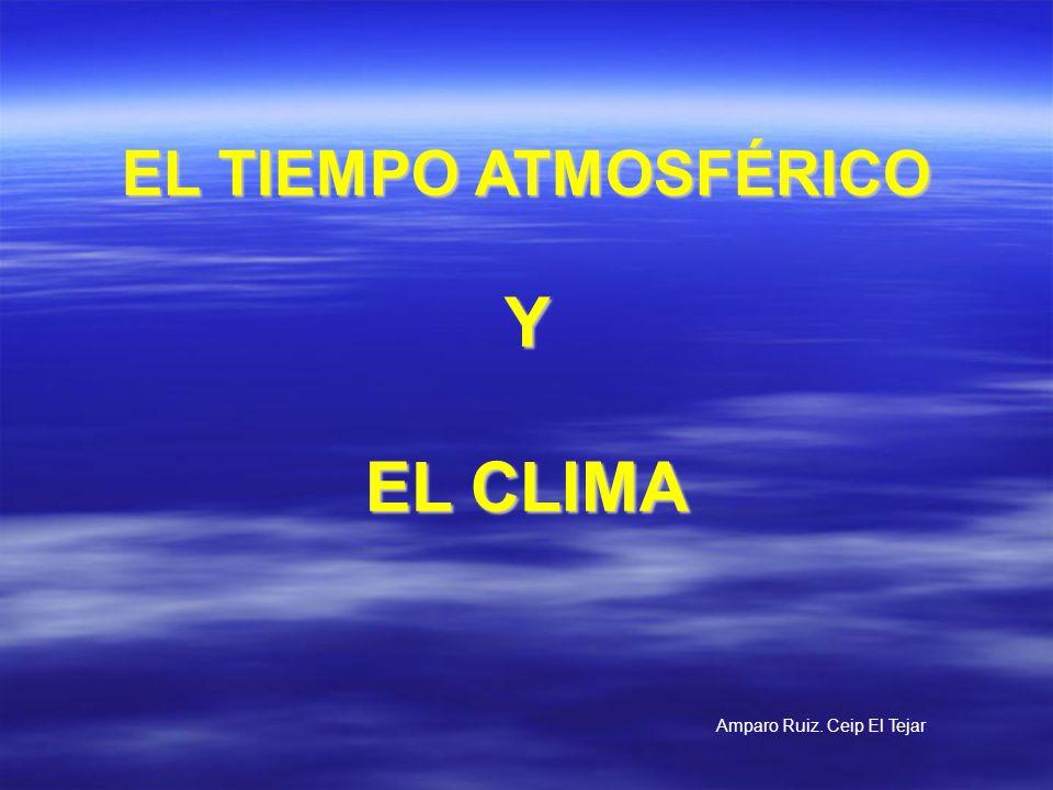 EL TIEMPO ATMOSFÉRICO Y EL CLIMA Amparo Ruiz. Ceip El Tejar