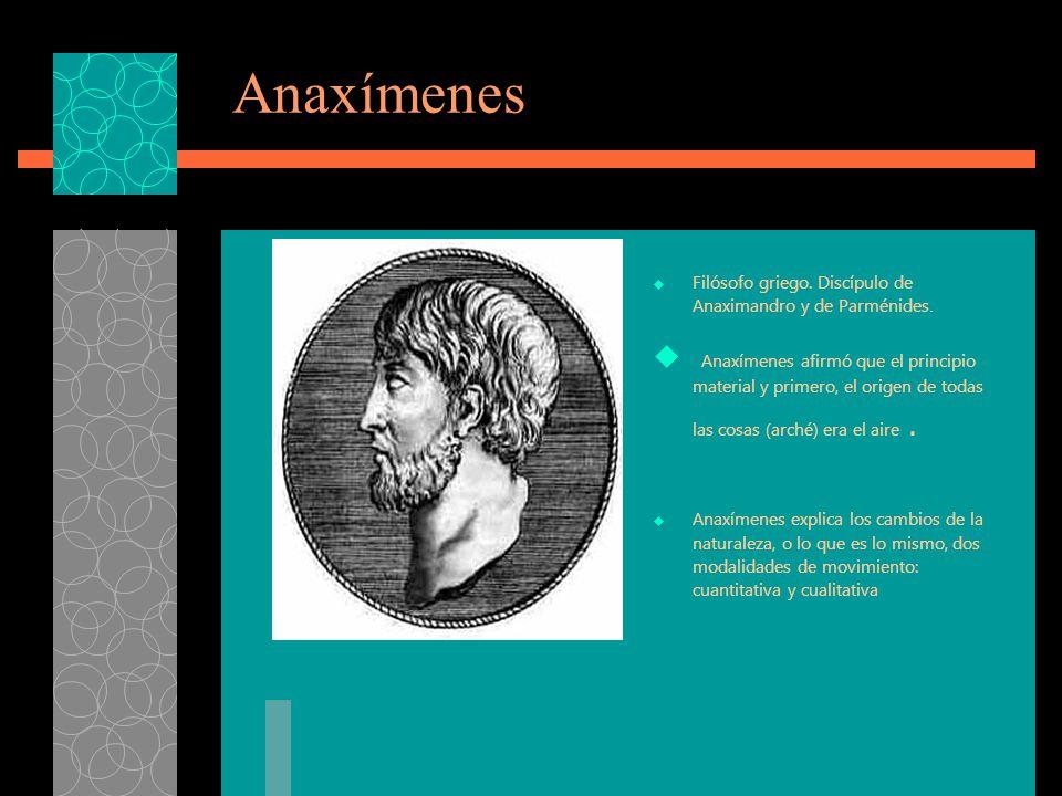Concepción del mundo según Anaximandro Principio básico (arché) como generador de todas las cosas. -Ideas filosóficas:. a) El ápeiron A naximandro hab