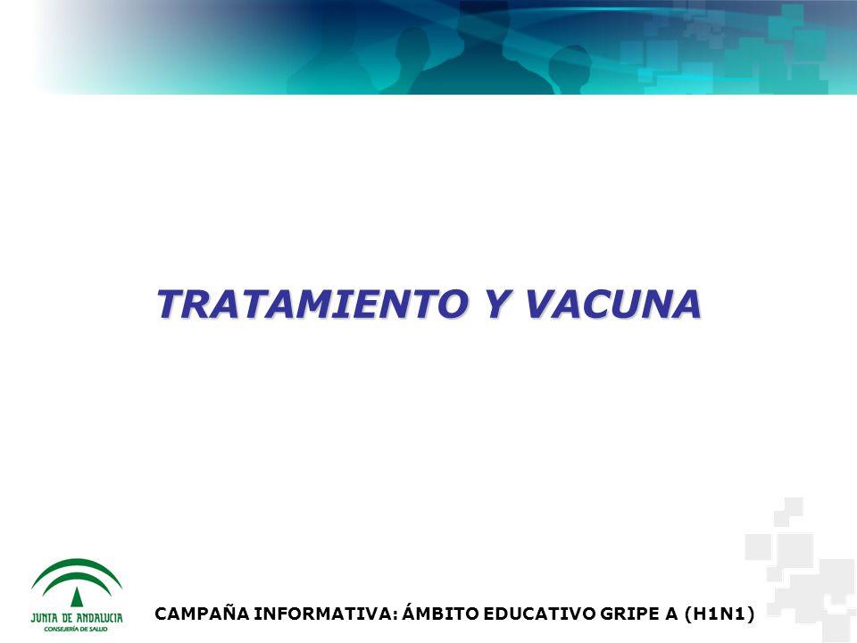 CAMPAÑA INFORMATIVA: ÁMBITO EDUCATIVO GRIPE A (H1N1) TRATAMIENTO Y VACUNA