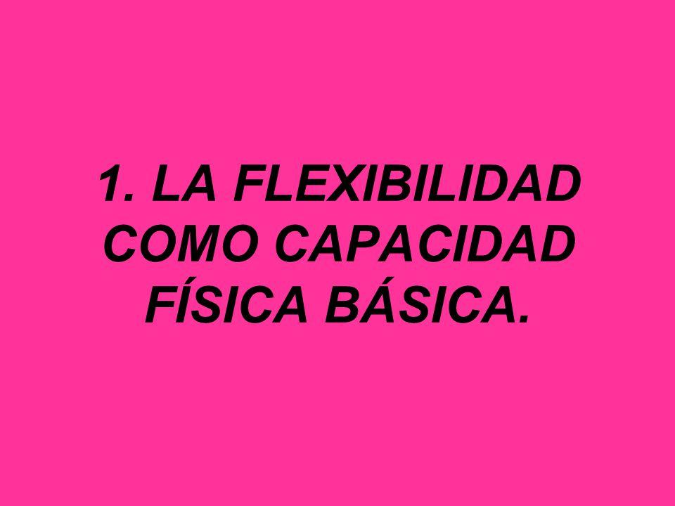 1. LA FLEXIBILIDAD COMO CAPACIDAD FÍSICA BÁSICA.