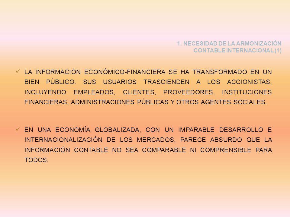 LA INFORMACIÓN ECONÓMICO-FINANCIERA SE HA TRANSFORMADO EN UN BIEN PÚBLICO. SUS USUARIOS TRASCIENDEN A LOS ACCIONISTAS, INCLUYENDO EMPLEADOS, CLIENTES,
