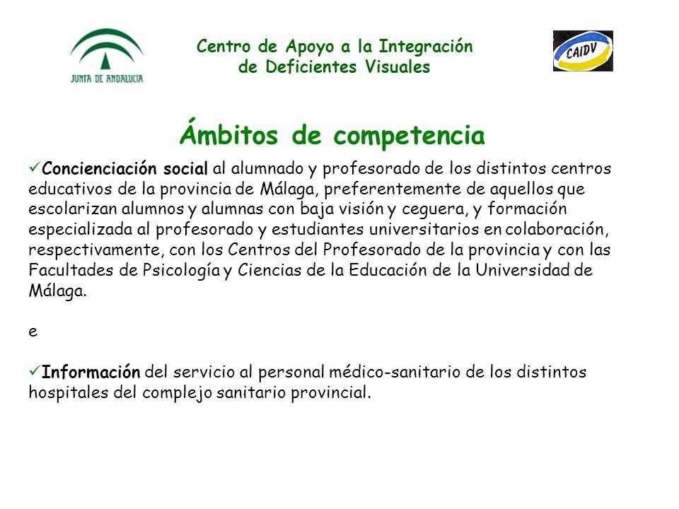 Centro de Apoyo a la Integración de Deficientes Visuales Contenidos: Asesoramiento a los profesionales que intervienen en el proceso de enseñanza/apre