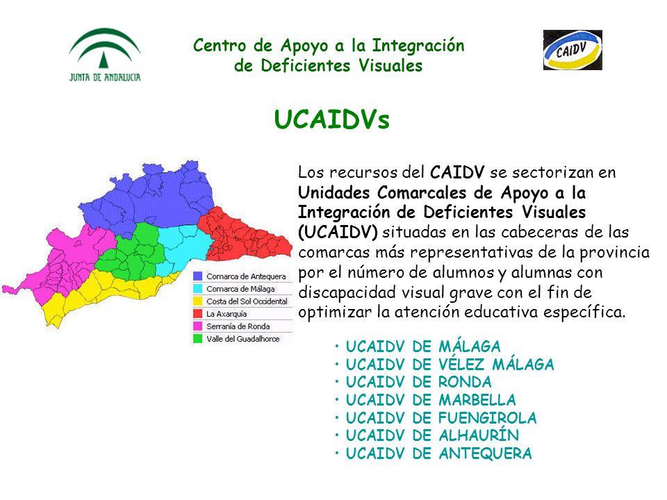 Centro de Apoyo a la Integración de Deficientes Visuales Concienciación social al alumnado y profesorado de los distintos centros educativos de la pro